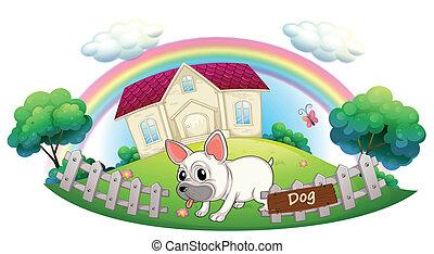 Casa guardia cartone animato cane atteggiarsi bulldog for Piani casa com classico cane trotto stile