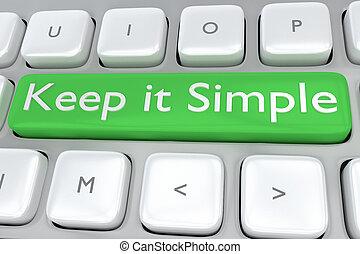 custodire, concetto, semplice, esso