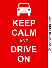 custodire, guidare, calma