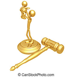 Custody Ruling - 3D Concept And Presentation Figure