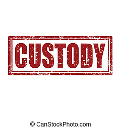 Grunge rubber stamp with word Custody, vector illustration