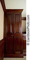 custom cabinet - custom made wood cabinet quality detail bar...