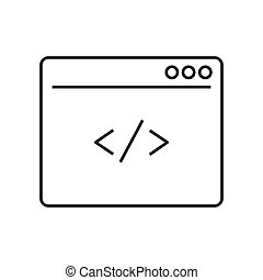 Custom coding line icon