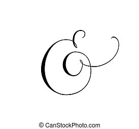 Custom decorative ampersand isolated on white. Great for ...