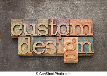 custom design - text in vintage letterpress wood type...