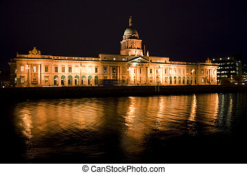 custom house at night