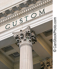 Detail of US custom house