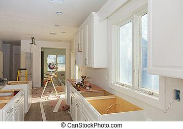 Custom kitchen cabinets of installation base of kitchen cabinets