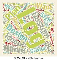 Custom Log Home Design Ideas text background wordcloud concept