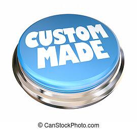 Custom Made Blue Button Special Order 3d Illustration