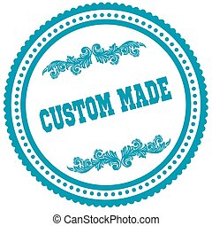CUSTOM MADE blue round stamp.