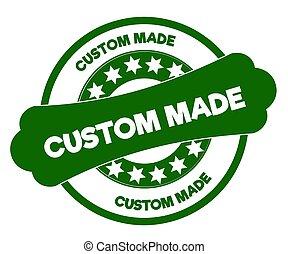 CUSTOM MADE green stamp.