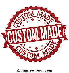 Grunge rubber stamp with text Custom Made, vector illustration