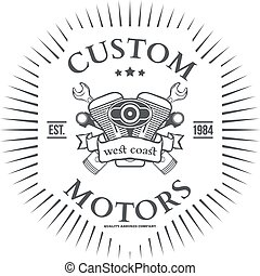 Custom motor vector t-shirt print design