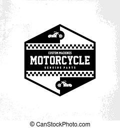 custom motorcycle chopper bike vector art illustration