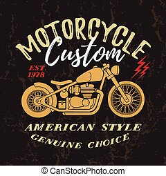 Custom Motorcycle Print.