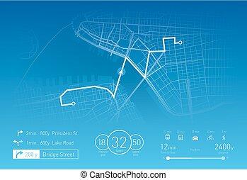 Custom Navigation system vector illustration
