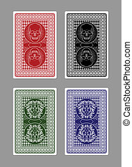 Custom Playing Card Designs - Skulls and Lions Poker Card...