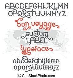 Custom retro typeface Bon Voyage