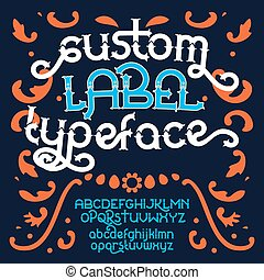 Custom retro typeface