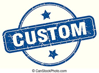 custom round grunge isolated stamp