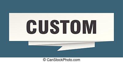 custom sign. custom paper origami speech bubble. custom tag....