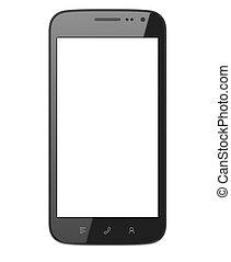 Custom smart phone isolated on white