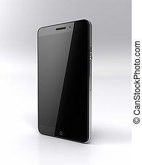 Custom smart phone on white
