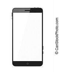 Custom smart phone with blank screen