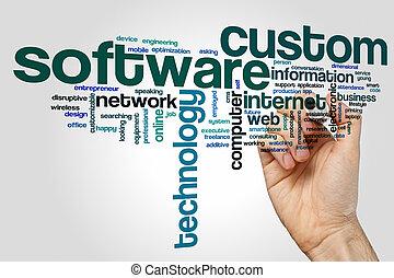 Custom software word cloud