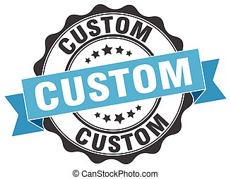 custom stamp. sign. seal