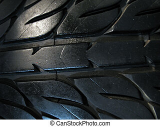 custom tire treads - a macro shot of some custom tire tread