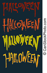 Custom Vector Halloween Text