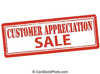 Customer appreciation - Rubber stamp with text customer ...