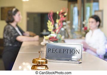 Customer at Reception