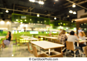 Customer at restaurant blur background with bokeh