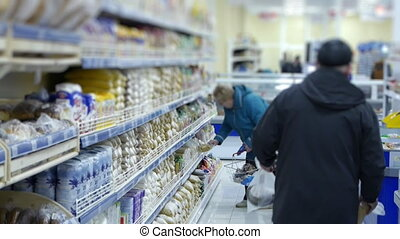 customer buying foods at the supermarket