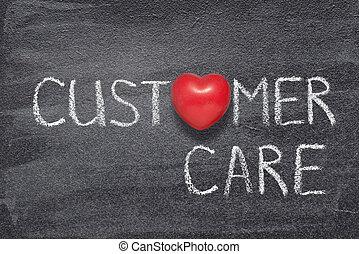 customer care heart - customer care phrase written on ...