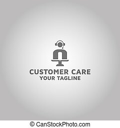 Customer Care Video chat vector logo
