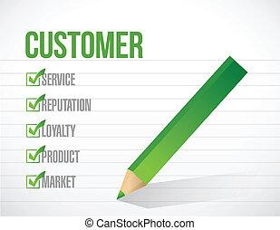 customer check mark list illustration design