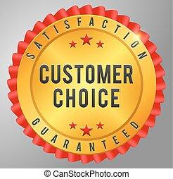 Customer choice satisfaction guarantee golden badge