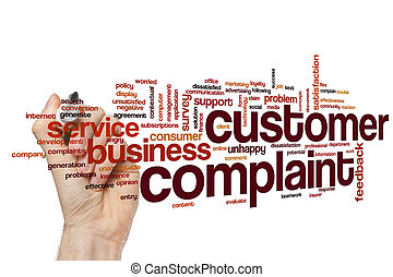 Customer complaint word cloud concept