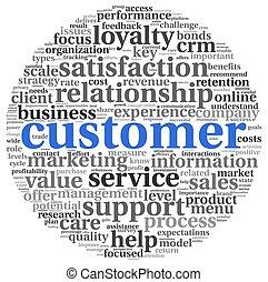 Customer concept on white