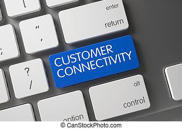 Customer Connectivity CloseUp of Keyboard. 3D.