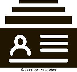 Customer Database Icon Vector Glyph Illustration