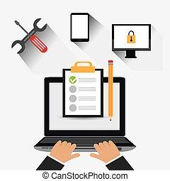 Customer design. - Customer digital design, vector...