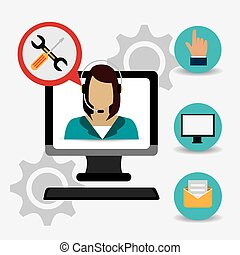 Customer digital design, vector illustration eps 10.