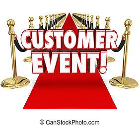 Customer Event Appreciation Celebration Red Carpet Exclusive Inv