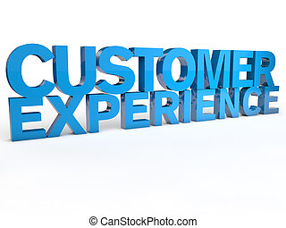 Customer Experience over white Background