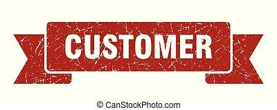 customer grunge ribbon. customer sign. customer banner